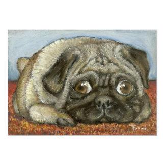 Snug Pug Custom Invitation