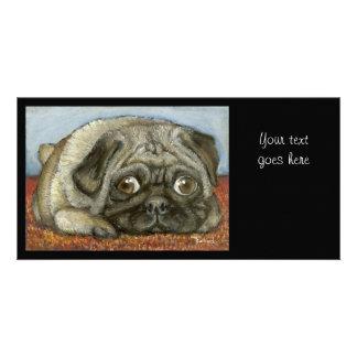 Snug Pug Personalized Photo Card