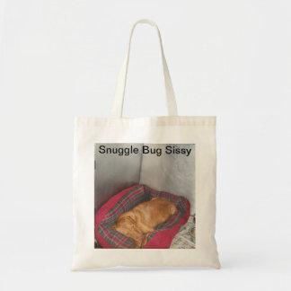 Snuggle Bug Tote Canvas Bag