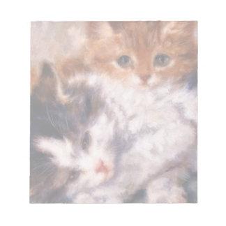 Snuggle de dos gatitos de Henriëtte Ronner-Knip Bloc De Notas