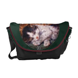 Snuggle de dos gatitos de Henriëtte Ronner-Knip Bolsas De Mensajería