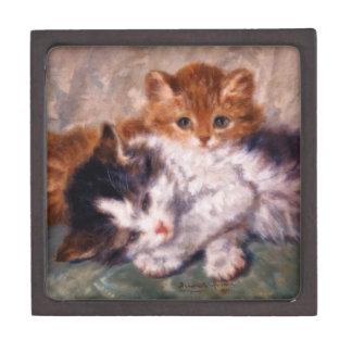 Snuggle de dos gatitos de Henriëtte Ronner-Knip Cajas De Recuerdo De Calidad