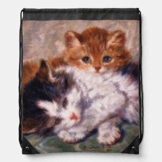 Snuggle de dos gatitos de Henriëtte Ronner-Knip Mochilas