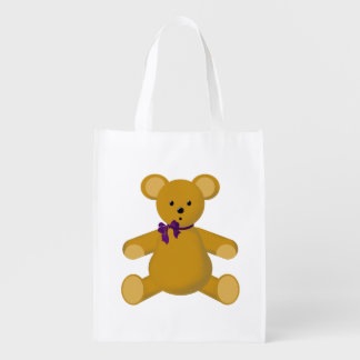 Snuggle el oso de peluche bolsas para la compra