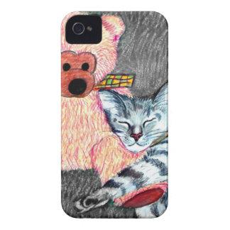 """""""Snuggle"""" las ilustraciones originales por el Case-Mate iPhone 4 Protectores"""