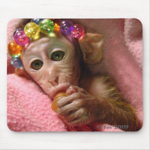 Snuggle Monkey Mouse Pads