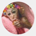 Snuggle Monkey Stickers