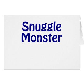 Snuggle Monster Card