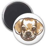 Snuggle Puggle Shirts and Gifts 2 Inch Round Magnet