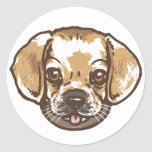 Snuggle Puggle Shirts and Gifts Classic Round Sticker