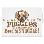 Snuggle Puggle Shirts and Gifts Greeting Card