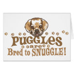 Snuggle Puggle Shirts and Gifts Greeting Cards