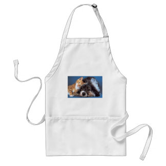 Snuggle Puppy and Kitten Adult Apron