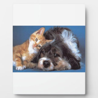 Snuggle Puppy and Kitten Plaque