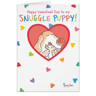 SNUGGLE PUPPY Valentines by Boynton Greeting Card