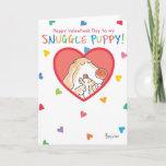 SNUGGLE PUPPY Valentines by Boynton Holiday Card