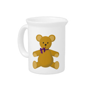 Snuggle the Teddy Bear Drink Pitcher