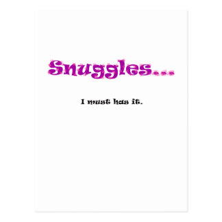 Snuggles... I must has it. Postcard