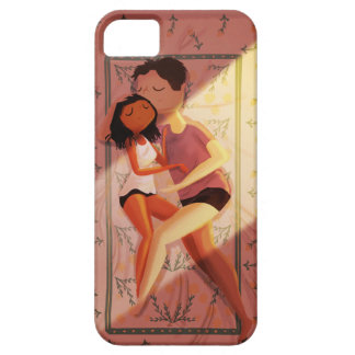 "Snuggling couple ""Summer nights"" iPhone 5 Case"