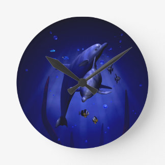 Snuggling Dolphins Clock