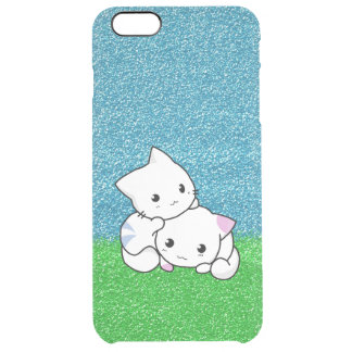 Snuggling Kittens Clear iPhone 6 Plus Case