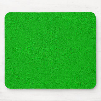 Snuggly Bright Neon Green Suede Look Mouse Pad