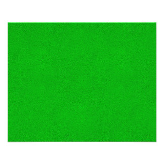 "Snuggly Bright Neon Green Ultrasuede Look 4.5"" X 5.6"" Flyer"