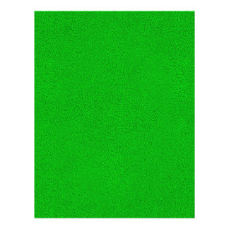 "Snuggly Bright Neon Green Ultrasuede Look 8.5"" X 11"" Flyer"