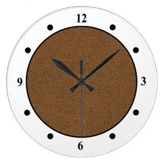 Snuggly Coffee Brown Suede Look Clocks