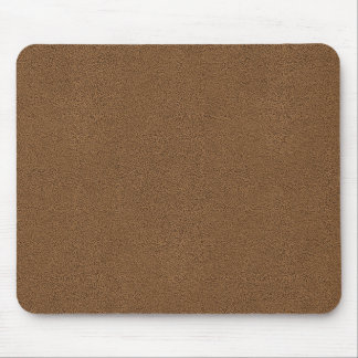 Snuggly Coffee Brown Suede Look Mouse Pad