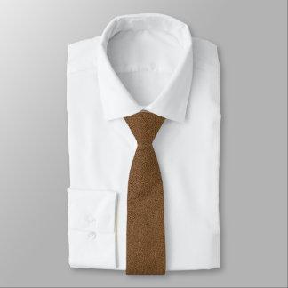 Snuggly Coffee Brown Suede Look Tie