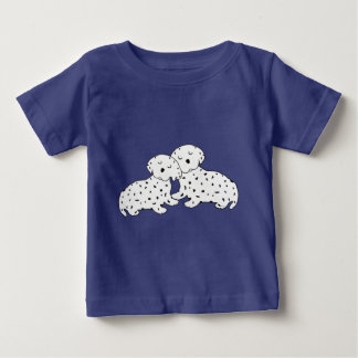 Snuggly Dalmatian Dreams Baby T-Shirt