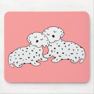 Snuggly Dalmatian Dreams Mouse Pad