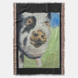 SNUGGLY PIGGY Throw Blanket
