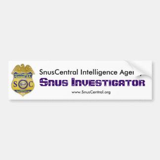 Snus Investigator Car Bumper Sticker