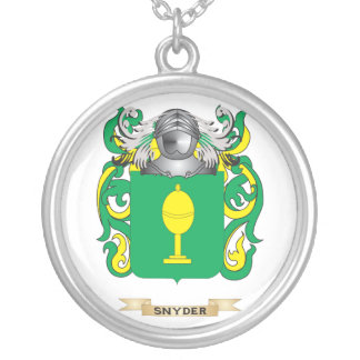 Snyder Coat of Arms (Family Crest) Silver Plated Necklace