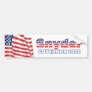 Snyder Patriotic American Flag 2010 Elections Bumper Sticker