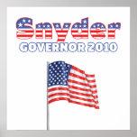 Snyder Patriotic American Flag 2010 Elections Poster