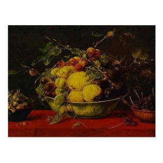 Snyders-Frutas de Francisco en un cuenco en un man Tarjeta Postal
