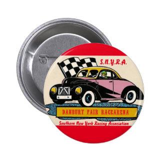 SNYRA Danbury Fair Racearena Stock Car Racing Logo Pinback Button