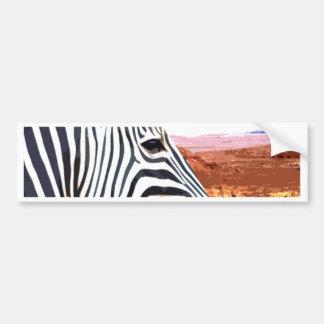 So a Zebra travels to the desert Bumper Sticker