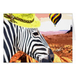 So a Zebra travels to the desert Greeting Card