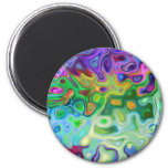 So abstract 4.1 2 inch round magnet