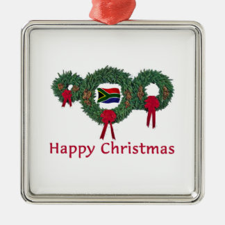 So. Africa Christmas 2 Square Metal Christmas Ornament
