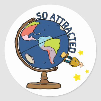So Attracted Classic Round Sticker