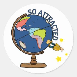 So Attracted Round Sticker