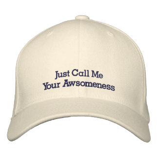 So Awsome Embroidered Hat
