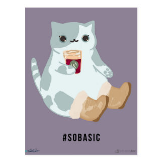 So Basic Cat Postcard