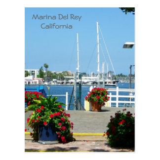 So Beautiful Marina Del Rey Postcard! Postcard