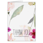 So Beautiful Watercolor Floral Thank you Stationery Note Card